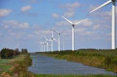 De turbogeneratorsysteem van de wind Royalty-vrije Stock Afbeelding