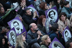 De Turken, Armeniërs herdenken Armeense 'genocide' in Ä°stanbul Royalty-vrije Stock Foto's