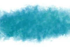 De turkooise blauwe achtergrond van de de waterverfverf van de watergolf abstracte of uitstekende Royalty-vrije Stock Afbeelding