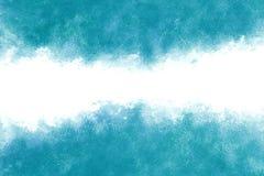 De turkooise blauwe achtergrond van de de waterverfverf van de watergolf abstracte of uitstekende Stock Fotografie