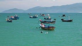 De turkooise van de Overzeese Vietnamese film kustlijn hoge definitie stock footage