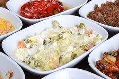 De Turkse aanzetten van de Salade van Olivier Stock Foto's