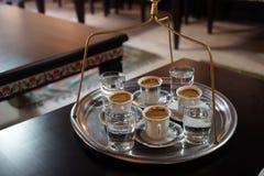 De Turkse koffie is gedronken stock fotografie