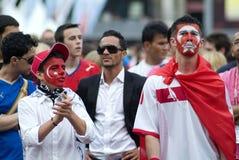 De Turkse Ventilators van het Voetbal Stock Afbeelding