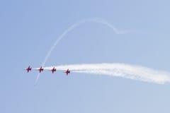 De Turkse Vorming van Vliegtuigen in Lucht toont Royalty-vrije Stock Foto's