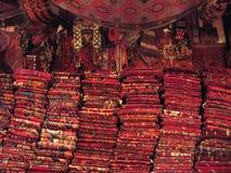 De Turkse Winkel van het Tapijt Stock Foto