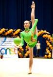 De turner presteert in Irina Deleanu Orange Trophy stock foto's