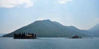 De två angränsande öarna i Adriatiskt havet arkivbild