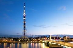 De TV-Toren van de transmissie Cente van Leningrad Radiotelevision Stock Foto's