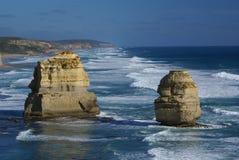 De twaalf apostelen (Grote oceaanweg, Australië) Stock Foto's