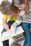 De twee jonge studenten stock afbeeldingen