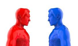De twee mensen bevinden zich face to face 3D Illustratie Royalty-vrije Stock Foto