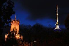 De twee torens Stock Foto's