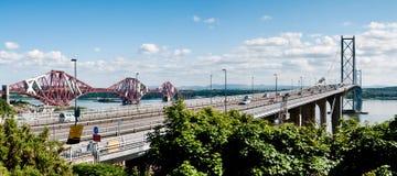 De twee vooruit bruggen Royalty-vrije Stock Foto