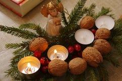 De tweede decoratie van de Komstzondag met engel stock afbeelding
