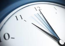 De tweede hand van de klok en van het bereik Stock Afbeelding