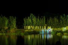 De tweede hoofdstuk` lamp ` - de rivieroever op grote schaal toont ` Jinggangshan ` Stock Afbeelding
