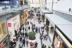 De tweede kerstdag is de bezigste het winkelen dag van het jaar Stock Fotografie