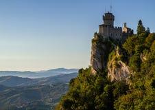 De tweede toren: Cesta of Fratta, San Marino, Italië Stock Foto