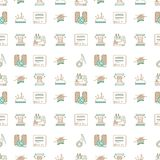 De tweekleurige achtergrond van het lijnontwerp voor het naaien of Stock Fotografie