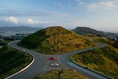 De tweeling Heuvel van Pieken, San Francisco. Stock Fotografie