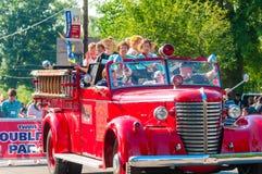De tweelingen van de brandvrachtwagen Royalty-vrije Stock Afbeeldingen