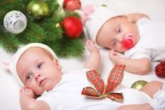De tweelingen van Kerstmis stock fotografie