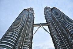 De tweelingtoren van Petronas in Kuala Lumpur Maleisië Royalty-vrije Stock Afbeelding