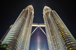 De TweelingTorens Kuala Lumpur van Petronas Stock Afbeeldingen