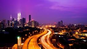 De tweelingtorens van Kuala Lumpur Royalty-vrije Stock Afbeelding