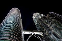De TweelingTorens van Kuala Lumpur Petronas Stock Foto