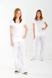 De tweelingzusters van de tiener Stock Afbeelding