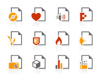 De types van dossier pictogrammen Royalty-vrije Stock Fotografie