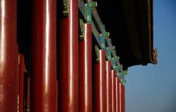 De typische architectuur van China, pijlers Royalty-vrije Stock Fotografie