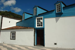 De typische architectuur van de Azoren Stock Afbeeldingen