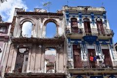 De typische oude architectuur van Havana stock fotografie
