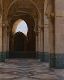 De typische Pijler Morroco van de Moskee stock foto