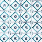 De typische Portugese achtergrond van de tilesAbstract kleurrijke muur - Lisb Stock Foto's
