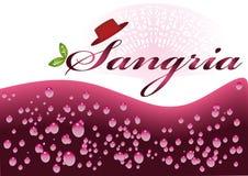 De Typische Spaanse verfrissende drank van de sangria. Stock Fotografie