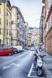 De typische straat van La Spezia Royalty-vrije Stock Foto