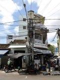 De typische straat van Nha Trang Stock Foto