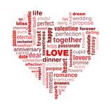 De typografie van de liefde Stock Fotografie