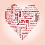 De typografie van de liefde Stock Foto