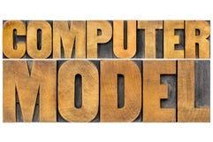 De typografie van het computermodel Royalty-vrije Stock Foto's