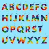 De typografie van het ideealfabet Royalty-vrije Stock Foto