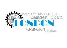 De typografie van Londen Stock Foto