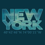 De typografie van 'New York' Royalty-vrije Stock Foto