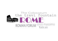 De typografie van Rome Royalty-vrije Stock Foto's