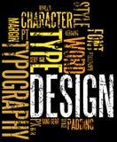 De typografieachtergrond van Grunge stock illustratie