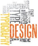 De typografieachtergrond van Grunge Stock Foto's